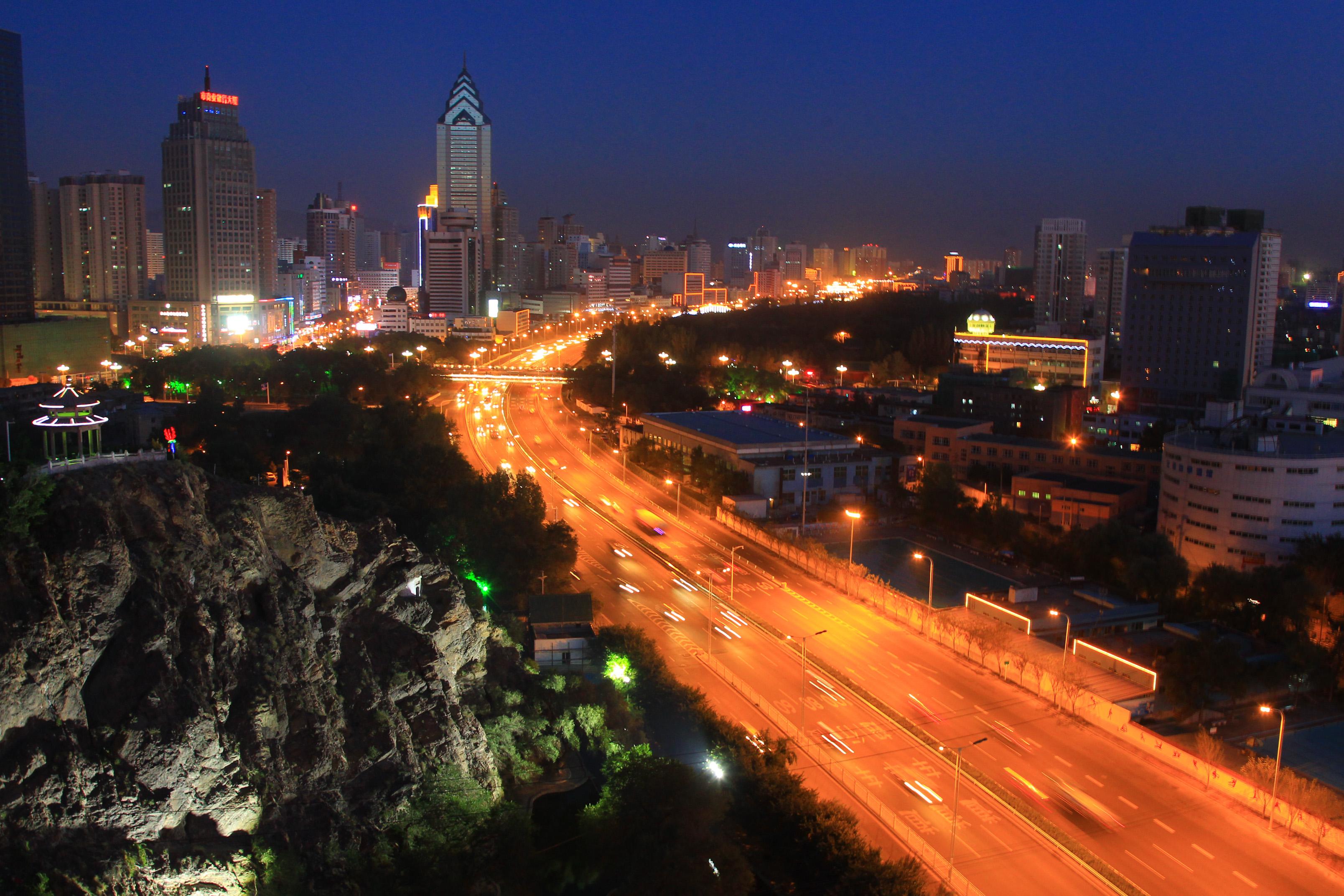 Urumqi at night.